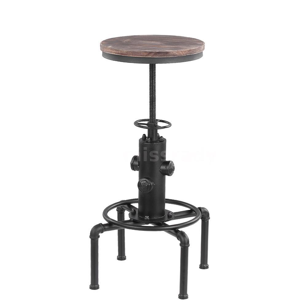 metal industrial bar hocker einstellbare swivel esszimmer. Black Bedroom Furniture Sets. Home Design Ideas